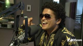 Bruno Mars talks 24k Magic, What he does in his free time + Being a Rihanna fan