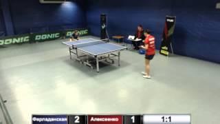 Фарладанская А. vs Алексеенко Н.