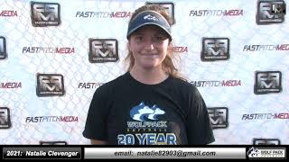 2021 Natalie Clevenger Catcher and Third Base Softball Skills Video - Lady Wolfpack