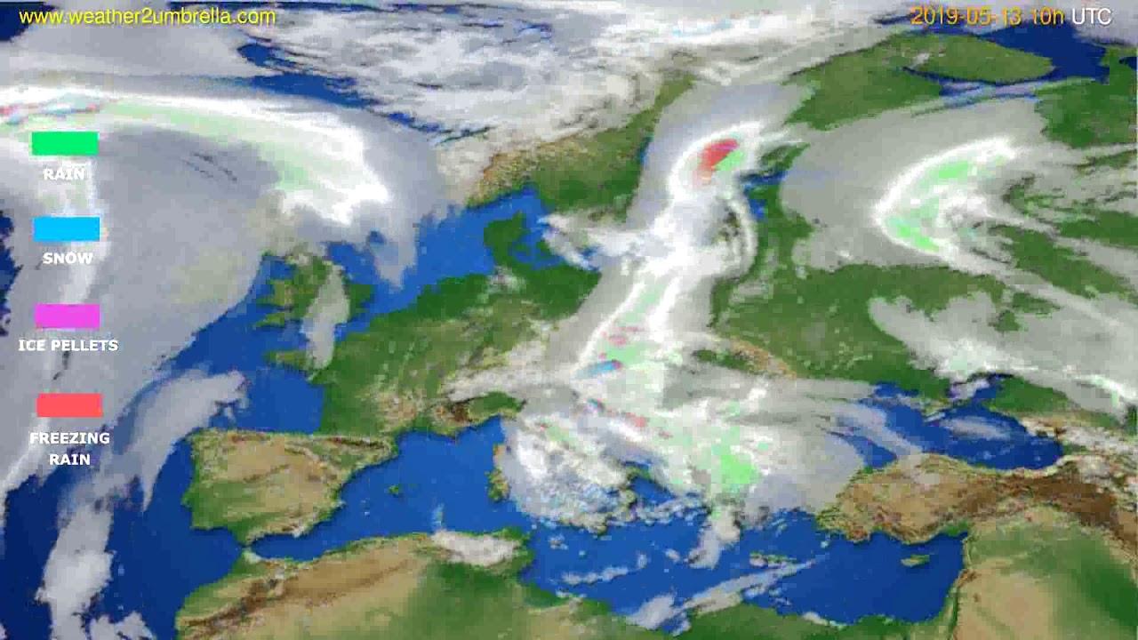 Precipitation forecast Europe // modelrun: 12h UTC 2019-05-10