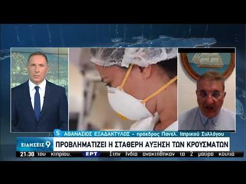Αθ. Εξαδάκτυλος: Δεν έχει χαθεί το περιθώριο για δράση απέναντι στην επιδημία | 08/08/2020 | ΕΡΤ