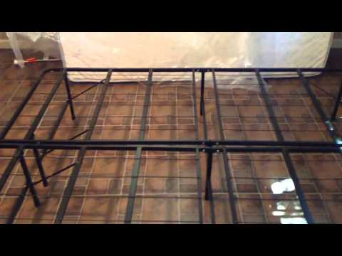 basic metal bed frame assembly 2