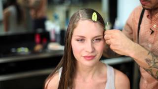 How to Make Curly Hair Straight Without Straightening & Blow Drying : Braids & Hair Styling Tips - YouTube