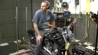 6. 2009 Harley-Davidson V-Rod Muscle Boss Noss 40 Hp kit on the Dyno