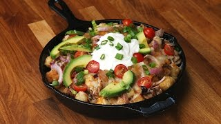 Honey Mustard Chicken Tater Tot Nachos by Tasty