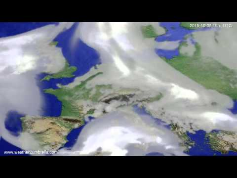 Cloud forecast Europe 2015-10-07