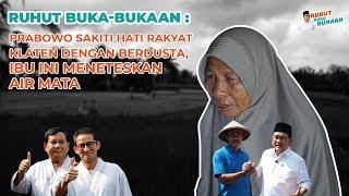 Video Prabowo Sakiti Hati Rakyat Klaten dengan Berdusta, Ibu Ini Meneteskan Air Mata MP3, 3GP, MP4, WEBM, AVI, FLV Februari 2019