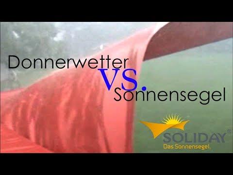 Soliday Sonnensegel - Verhalten bei extremen Wetterverhältnissen