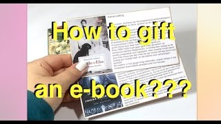 Though we cannot change the digital nature of the e-book, we can make it more fun to gift an e-book to someone!Please like, share & subscribe!https://www.youtube.com/user/imageofthecreator?sub_confirmation=1 Buy great paper craft items (single or small numbers!)http://katjascraft.marktplaza.nl Follow me on my blog:http://www.creatorsimagestudio.com  Find the tutorials in my Etsy shop:http://www.etsy.com/nl/shop/CreatorsImageStudio Follow me on Instagram:https://www.instagram.com/katjascraft Follow me on Pinterest:https://www.pinterest.com/KatjasCraft Follow me on Twitter:http://www.twitter.com/KatjasCraft Follow me on Snapguide:https://snapguide.com/katjas-craft/Music: Who Likes to Party by Kevin McLeod, www.incompetech.com