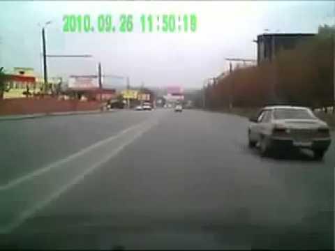 Subaru Impreza занесло два раза