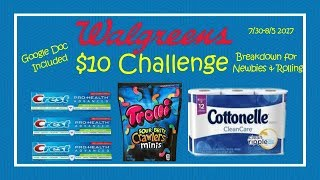 HI Everyone! Here is the Walgreens $10 Challenge for the week starting 7/29. Breakdown is for Newbies as well those of us with...