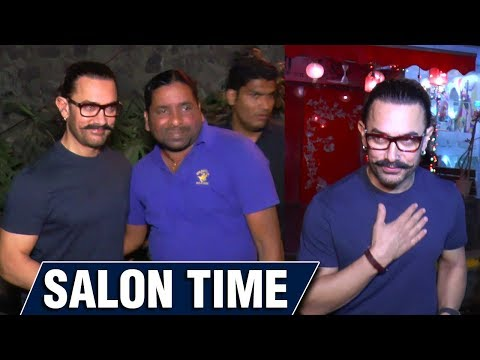CAUGHT! Aamir Khan SALON TIME With Media On His Bi
