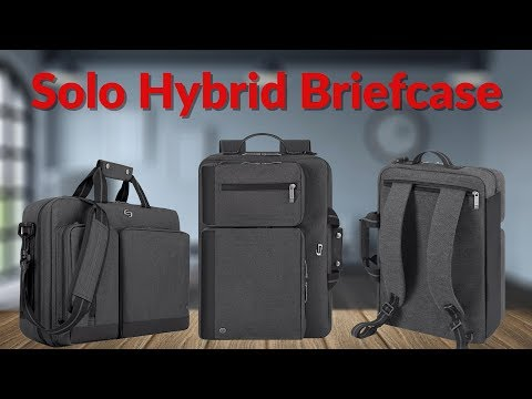 The Solo Hybrid Briefcase - YouTube Tech Guy