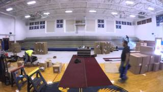 Boothbay Region High School Bleacher Time-lapse