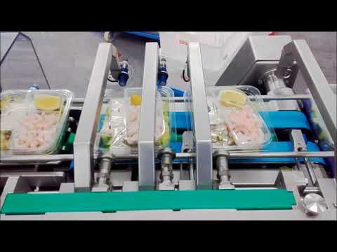 Food Automation presents Tramper S335-S340 Tray sealer for manual filling of salad