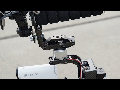 HDR-AS100V on Brushless Gimbal - Rubber Band Damper