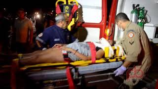 Pai, Filha e Sobrinha gravemente feridos em colisão Carro Moto na BR 230