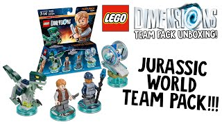 LEGO DIMENSIONS JURASSIC WORLD TEAM PACK UNBOXING!!! (LEGO Set No. 71205)