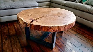 Live Edge Coffee Table, How To Flatten A Live Edge Slab - Woodworking