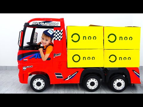 Vlad and Nikita pretend play with Trucks for kids