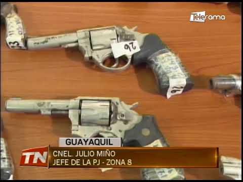 Policía entregó 50 armas de fuego a las FF.AA. para que sean destruidas
