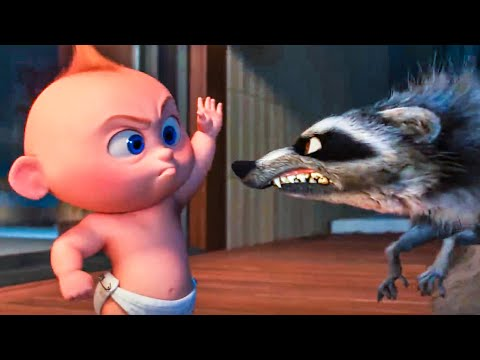 INCREDIBLES 2 - Baby Jack Jack vs Raccoon Fight Scene (2018) Movie Clip - Thời lượng: 3:35.