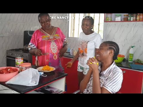 UCHE NANCY HAD A FANTASTIC MOMENT WITH THE GIRLS IN THE KITCHEN. IT WAS ALL FUN. WATCH TO THE END