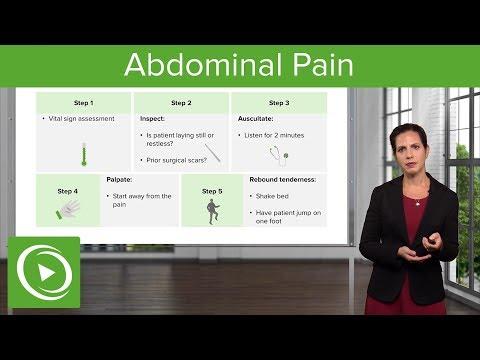 Abdominal Pain: Signs, Examination & Diagnosis – Emergency Medicine | Lecturio