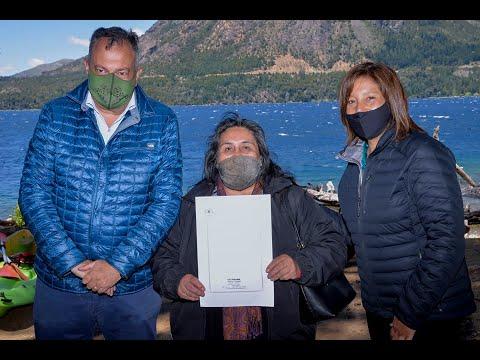 Se firmó en Bariloche la primera escritura de la Ley Pierri de Río Negro