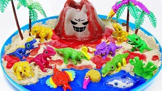 Video Dino Mecard Dinosaur Toys DIY Volcano Eruptiont | Jurassic World MP3, 3GP, MP4, WEBM, AVI, FLV Maret 2019