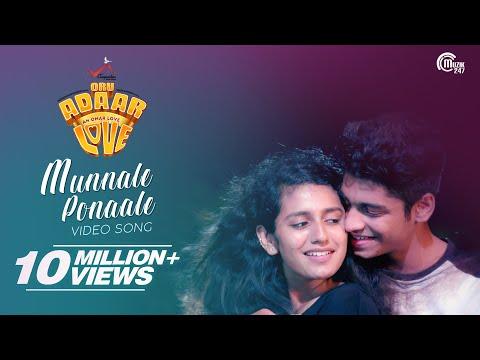 Oru Adaar Love   Munnaale Ponaale Full Video Song  Priya Varrier,Roshan  Shaan Rahman  Omar Lulu  HD