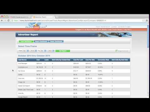 Advertiser Report - Dealer Lead Track