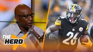 "Eric Dickerson joined Doug Gottlieb to discuss Le'Veon Bell's contract demands, and if Jared Goff should be the day 1 starter for Los Angeles next season.SUBSCRIBE to get all the latest content from The Herd: http://foxs.pt/SubscribeTHEHERD  ►Watch the latest content from The Herd: http://foxs.pt/LatestOnTheHerd ►Watch the latest content from Kristine Leahy: http://foxs.pt/LeahyOnHerd ►Watch our favorite content on ""Best of The Herd"": http://foxs.pt/BestOnTheHerd ►UNDISPUTED's YouTube channel: http://foxs.pt/SubscribeUNDISPUTED ►Speak for Yourself's YouTube channel: http://foxs.pt/SubscribeSPEAKFORYOURSELF See more from THE HERD: http://foxs.pt/THEHERDFoxSports Like THE HERD on Facebook: http://foxs.pt/THEHERDFacebook Follow THE HERD on Twitter: http://foxs.pt/THEHERDTwitter Follow THE HERD on Instagram: http://foxs.pt/THEHERDInstagram Follow Colin Cowherd on Twitter: http://foxs.pt/ColinCowherdTwitter Follow Kristine Leahy on Twitter: http://foxs.pt/KristineLeahyTwitter  About The Herd with Colin Cowherd:The Herd with Colin Cowherd is a three-hour sports television and radio show on FS1 and iHeartRadio. Every day, Colin will give you his authentic, unfiltered opinion on the day's biggest sports topics, and co-host Kristine Leahy will bring you the latest breaking sports news.Eric Dickerson on Le'Veon Bell wanting to be paid like #1 RB and #2 WR, Rams QB situation  THE HERDhttps://youtu.be/rmIgTg__QU4The Herd with Colin Cowherdhttps://www.youtube.com/c/colincowherd"