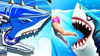 Toy Robot War Robot Shark vs Hungry Shark World Full Gameplay!