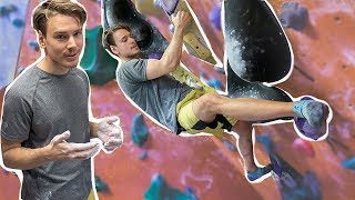 Climbing on the purple 7B+/V8 - How many tries will it take? by Eric Karlsson Bouldering