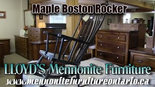Maple Boston Rocker