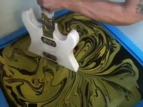 custom - http://www.facebook.com/MrDean2005 THIS YELLOW & BLACK SWIRLED GUITAR IS THE MOST VISITED AND VIEWED SWIRLING VID ON YOUTUBE & on the web!! Just like to say ...
