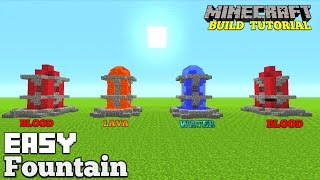 Minecraft Tutorial: BLOOD, LAVA, WATER FOUNTAIN. EASY FEATURE