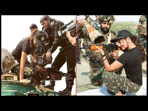 Sonakshi Sinha With Indian Soldiers, Tries Armed R