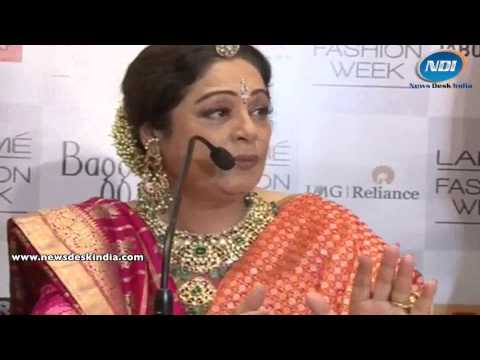 Lakme Fashion Week S/R 2014: Kirron Kher interacting with media