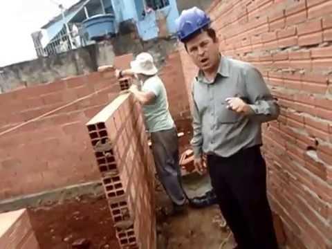 assentamento de tijolos - Como assentar tijolos.