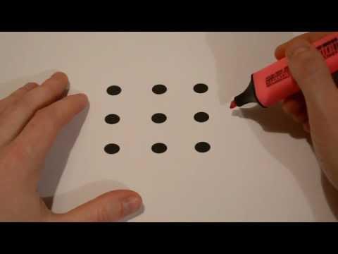 傻眼~~全世界只有20%的人可以在3秒鐘內解出來!將9個點用4條直線連起來