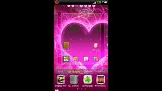 GO Launcher EX Themes Hearts YouTube video