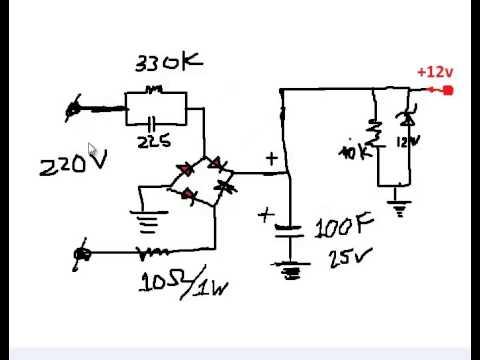 Nguyên lý hoạt động mạch hạ áp trực tiếp 220vAc--_ 12VDC (видео)
