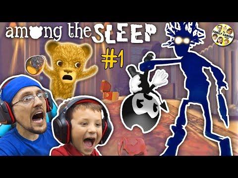 AMONG THE SLEEP!  My Teddy Bear is ALIVE! FGTEEV Tired Chase & Duddy (видео)