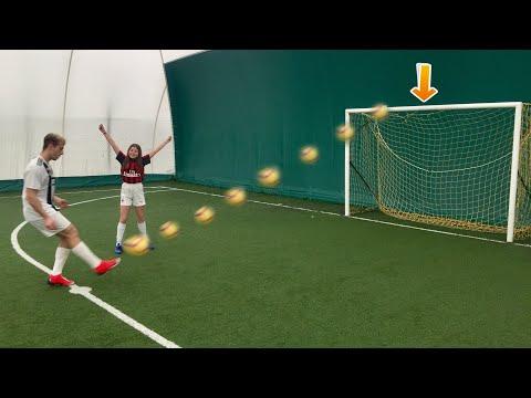 REGALO 1 EURO A CHI COLPISCE LA TRAVERSA CON LA PALLA!!! *challenge di calcio*