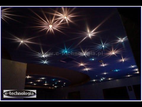 Zestaw Meteory, podświetlenie sufitów podwieszanych, kreatywne pomysły na sufit