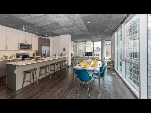 A 3-bedroom, 2-bath model at the Loop's new Linea apartments