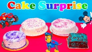 Assistant Explores Cake Surprise with Paw Patrol and Blaze Toys
