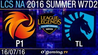 Liquid vs Phoenix1 - LCS NA Summer Split 2016 - W7D2